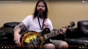 Gary Holt of Slayer and Exodus with his signature ESP Guitar model.