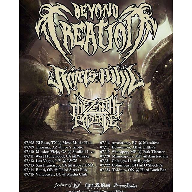 beyond creation rivers of nihil the zenith passage tour 2016